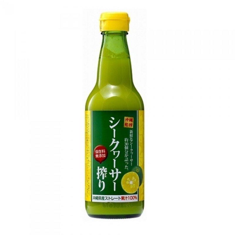 新鮮な果実約30個分を搾ったシークワーサーストレート果汁100%。